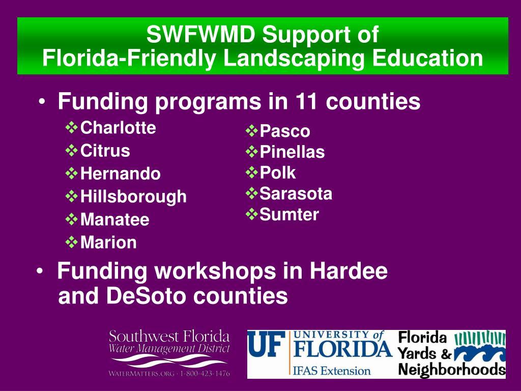 Funding programs in 11 counties