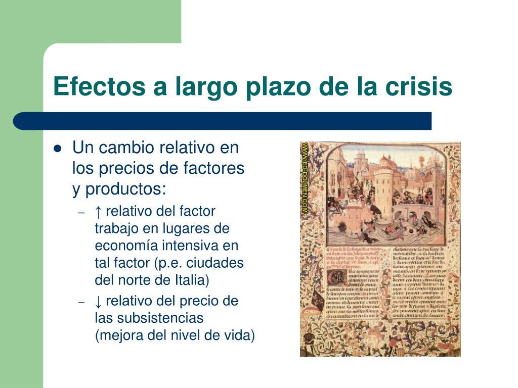 Efectos a largo plazo de la crisis