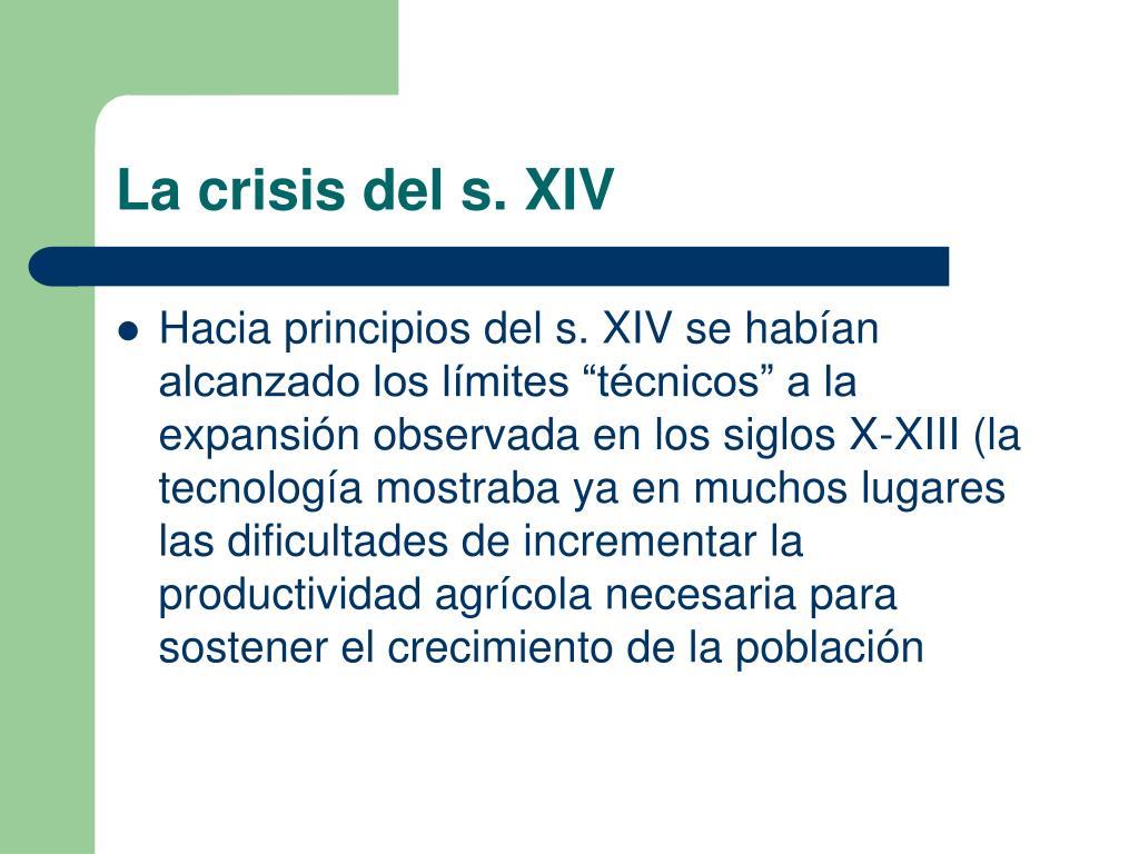 La crisis del s. XIV