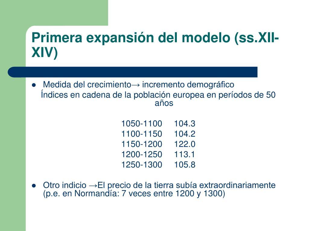 Primera expansión del modelo (ss.XII-XIV)