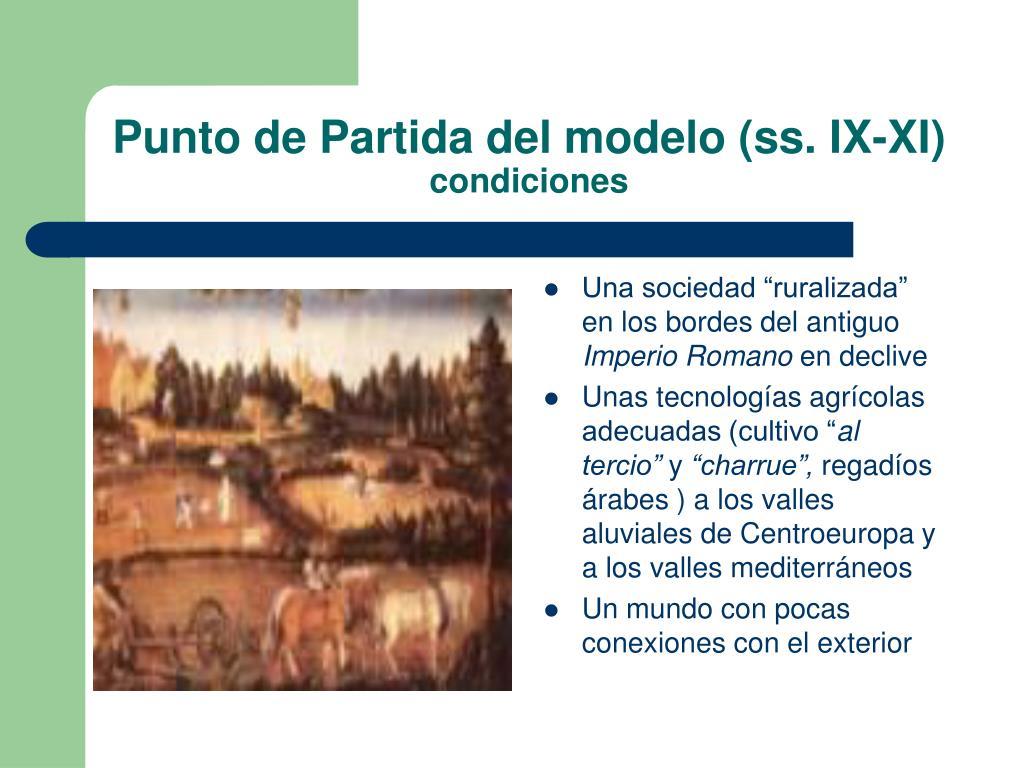 Punto de Partida del modelo (ss. IX-XI)