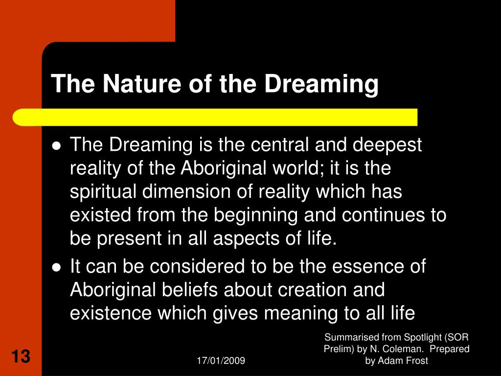 australian aboriginal beliefs and spiritualties