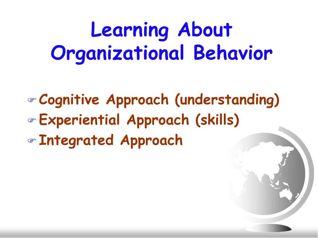 organisation behavior notes Organizational behavior (ob) can be defined as the understanding, prediction and management of human behavior both individually or in a group that.