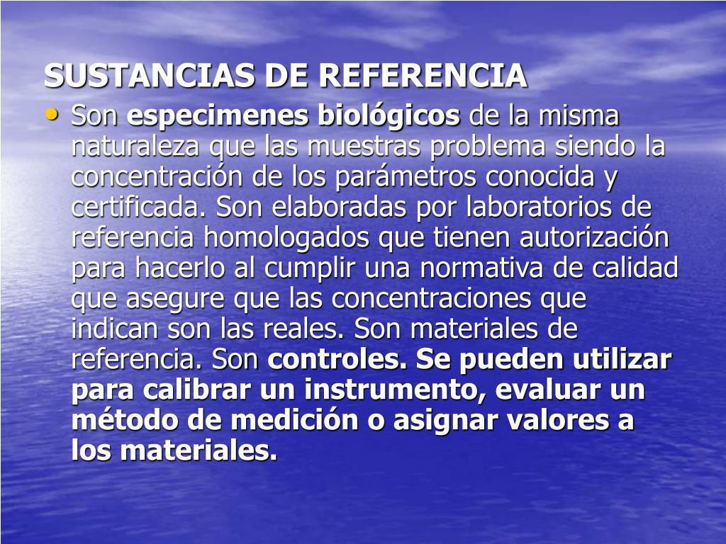 SUSTANCIAS DE REFERENCIA