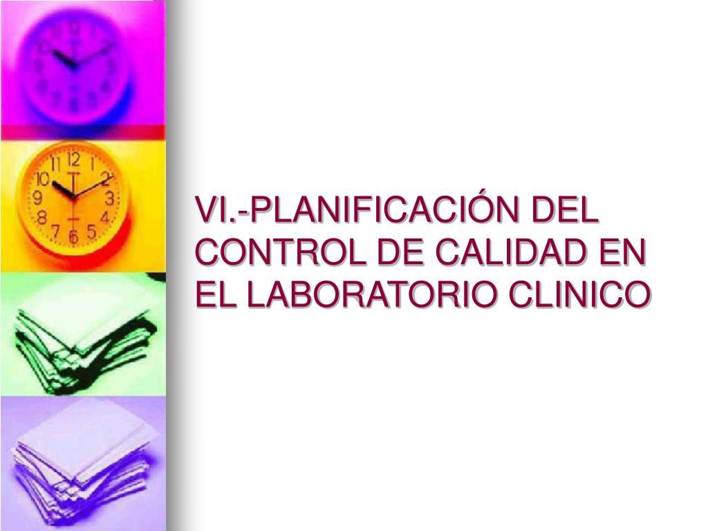 VI.-PLANIFICACIÓN DEL