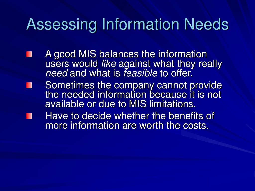 marketing information needs Agmaris is a system, which follows a systematic approach in assessing and responding to marketing information needs of farmers and traders at the local level and policy makers at the national level the agmaris design was based on the results of a marketing and information needs assessment (mina), a research.