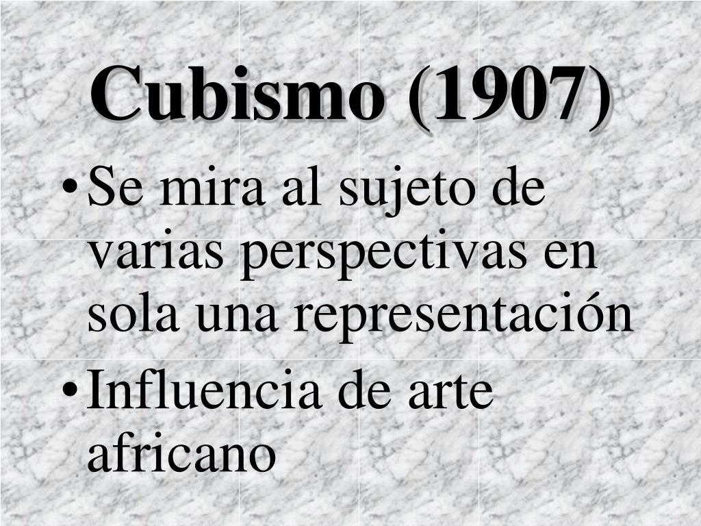 Cubismo (1907)