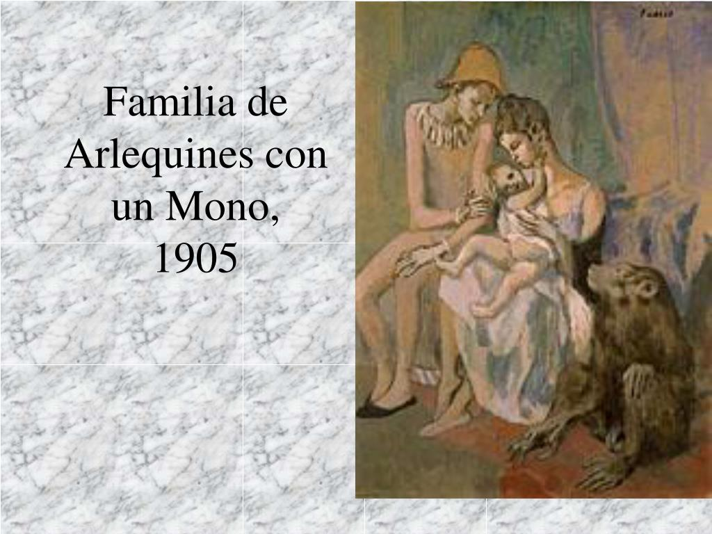 Familia de Arlequines con un Mono,