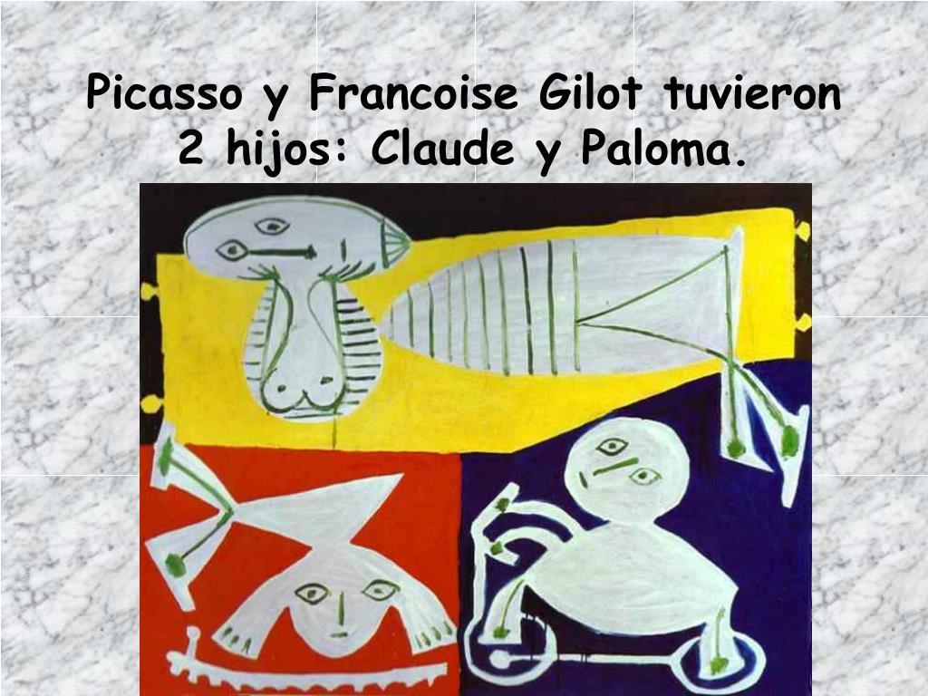 Picasso y Francoise Gilot tuvieron 2 hijos: Claude y Paloma.