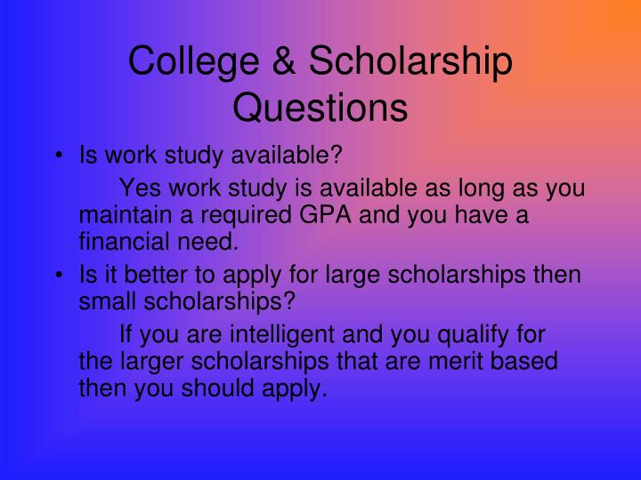 College scholarship questions3