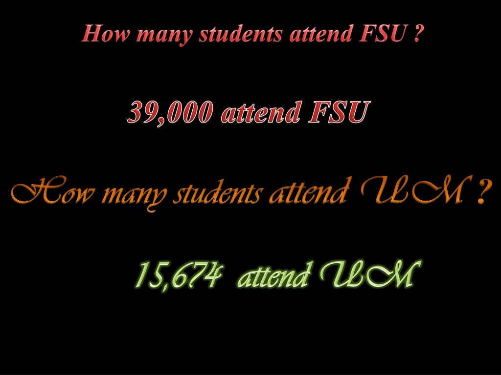 How many students attend FSU ?
