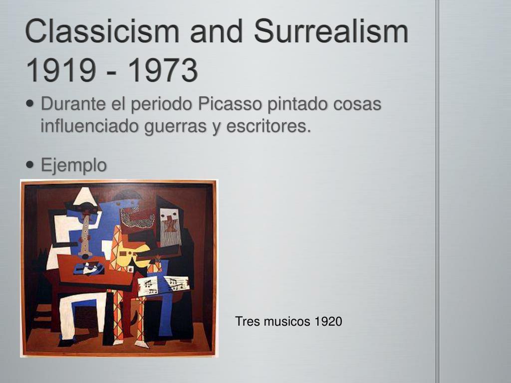 Classicism and Surrealism 1919 - 1973