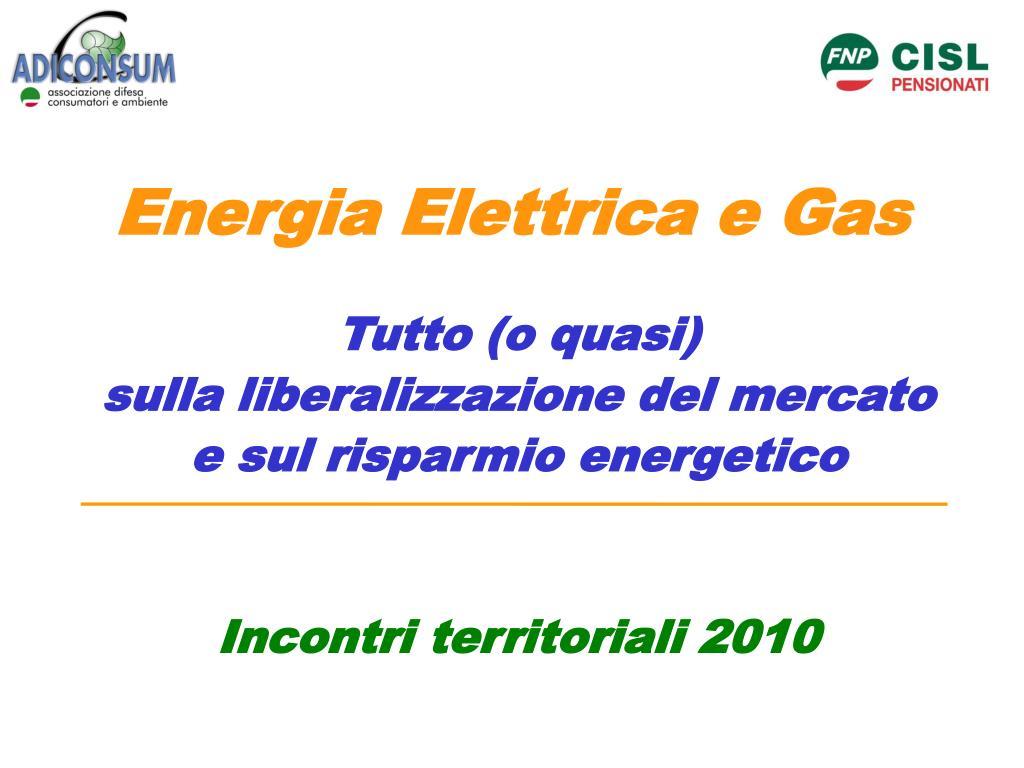 Energia Elettrica e Gas