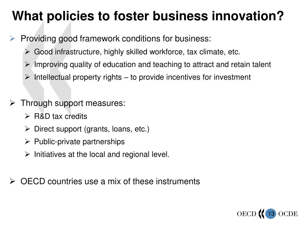 What policies to foster business innovation?