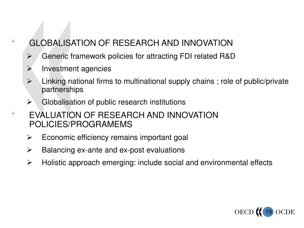 GLOBALISATION OF RESEARCH AND INNOVATION