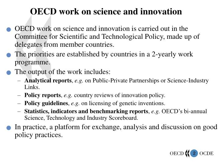 OECD work on science and innovation