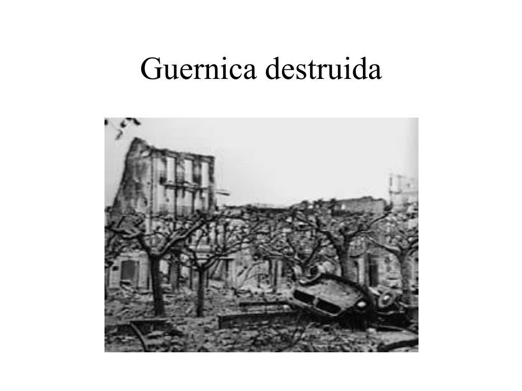 Guernica destruida