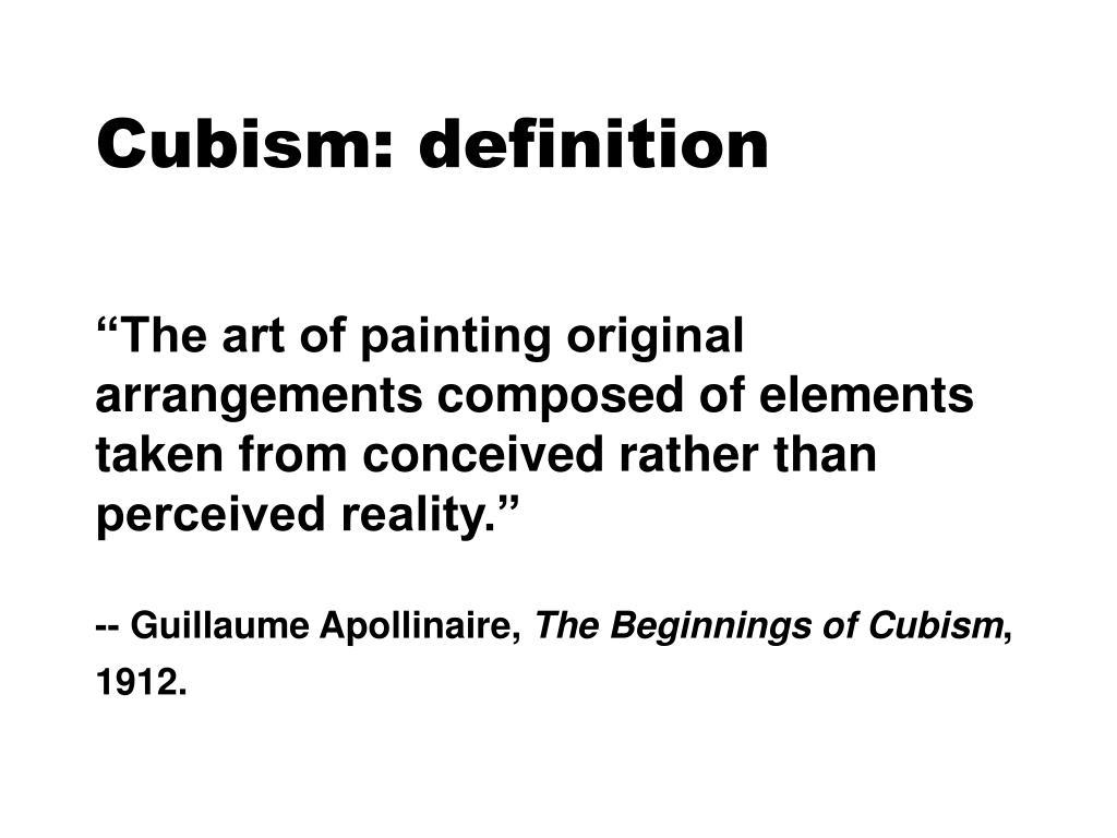 Cubism: definition