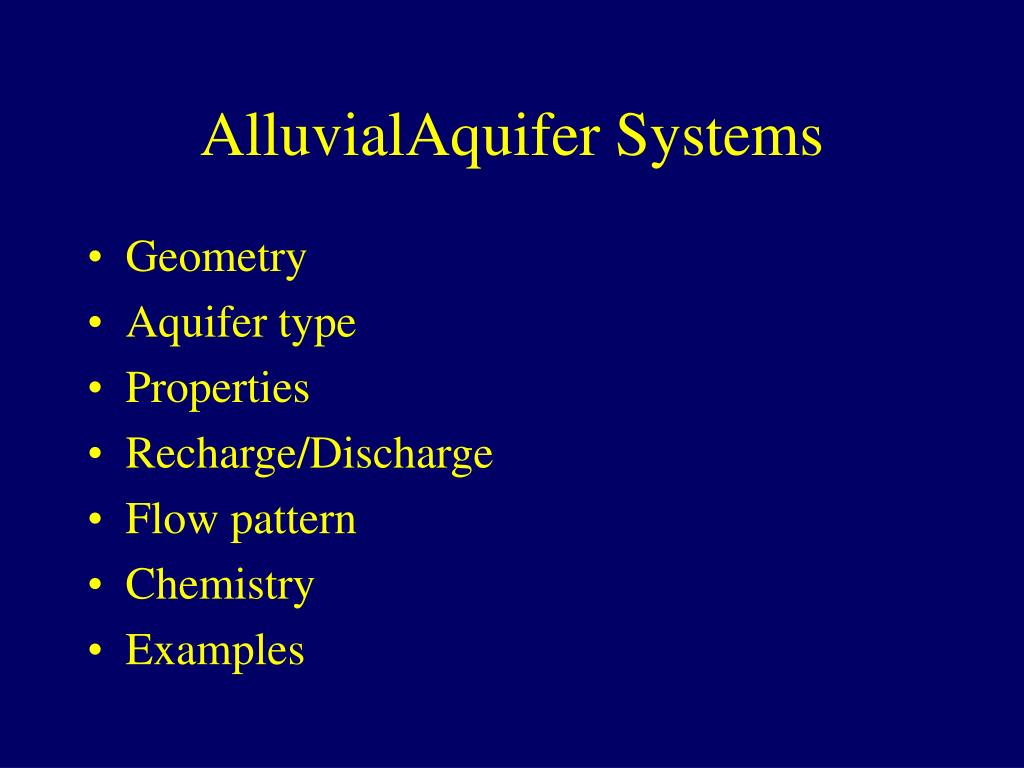 AlluvialAquifer Systems