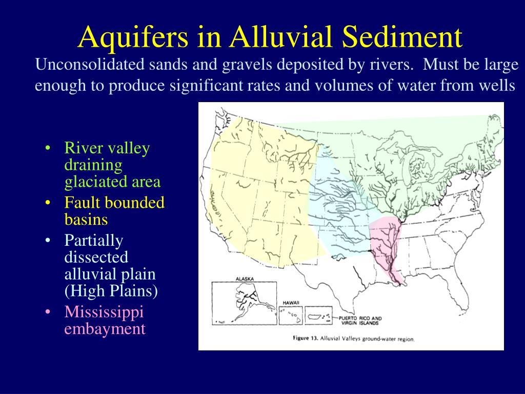 Aquifers in Alluvial Sediment