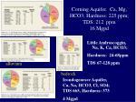 corning aquifer ca mg hco3 hardness 225 ppm tds 212 ppm 16 mgpd