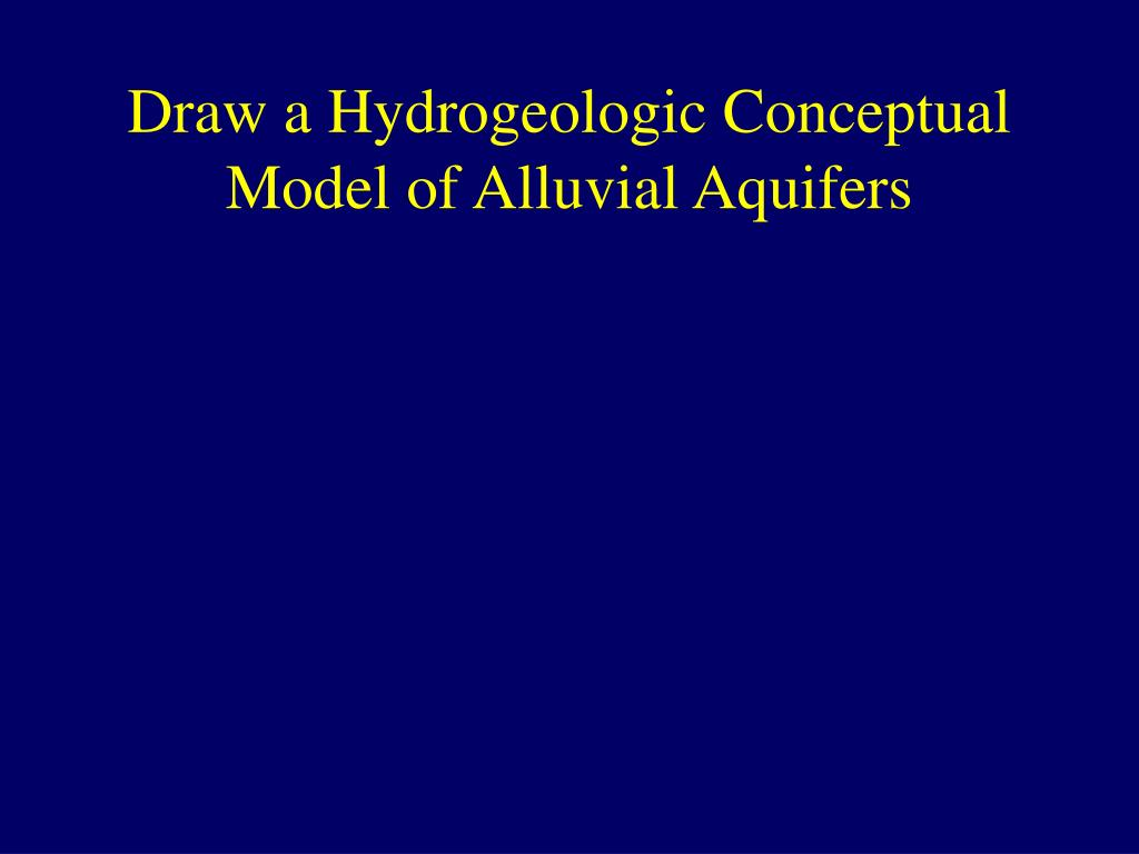Draw a Hydrogeologic Conceptual Model of Alluvial Aquifers