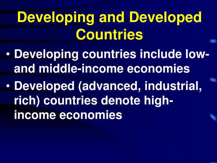 Developing and developed countries l.jpg