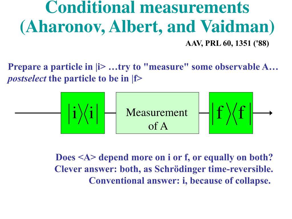 Conditional measurements