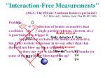 interaction free measurements