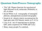 quantum state process tomography