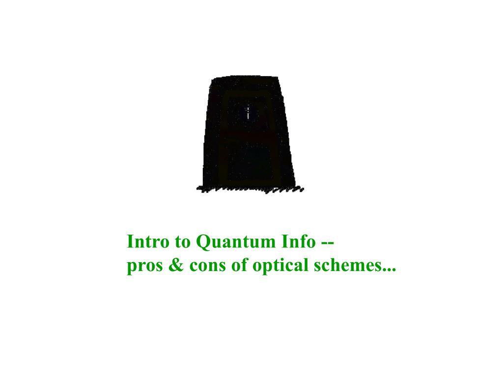 Intro to Quantum Info --