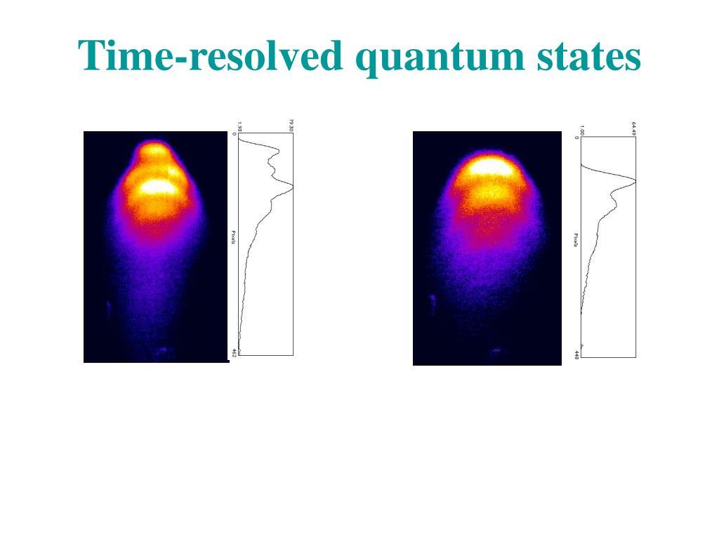 Time-resolved quantum states