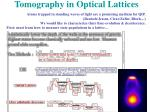 tomography in optical lattices