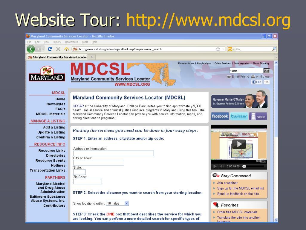 Website Tour: