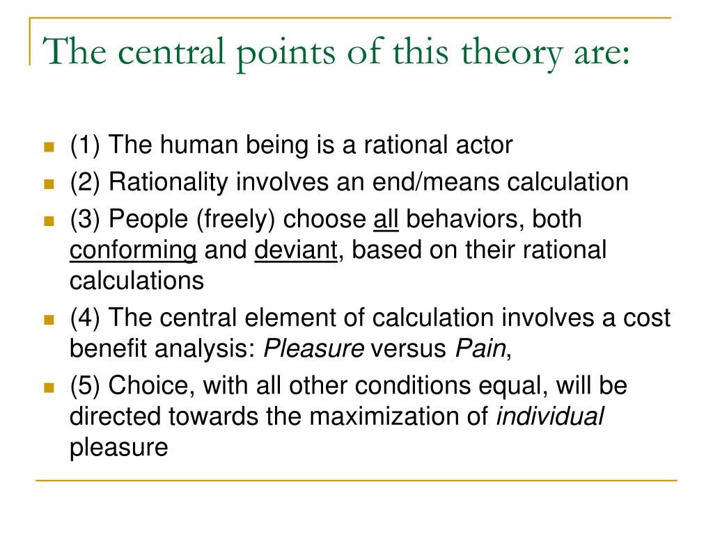 rational theory View and download rational choice theory essays examples also discover topics, titles, outlines, thesis statements, and conclusions for your rational choice theory essay.
