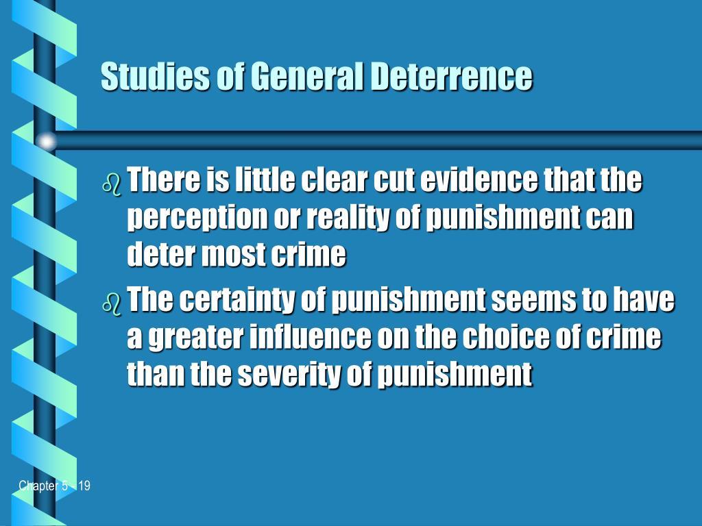 Studies of General Deterrence