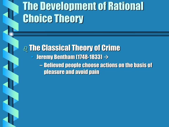 The development of rational choice theory3 l.jpg