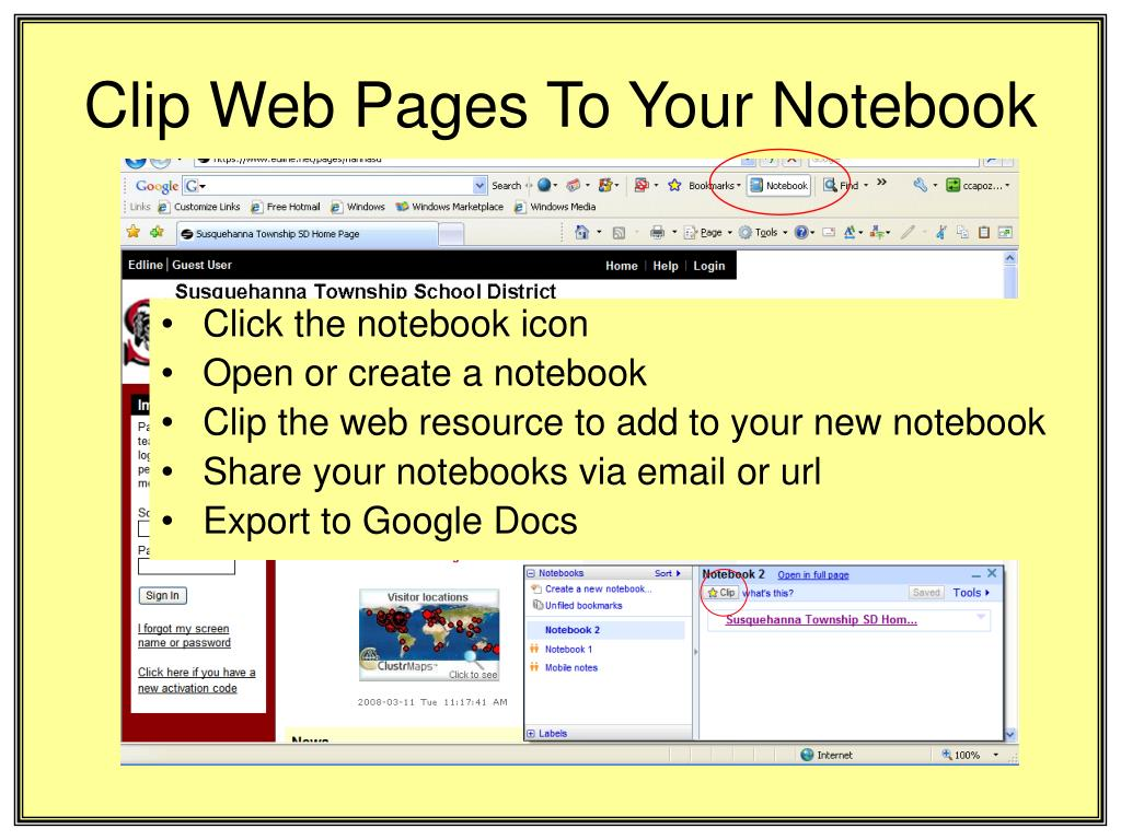 Clip Web Pages To Your Notebook