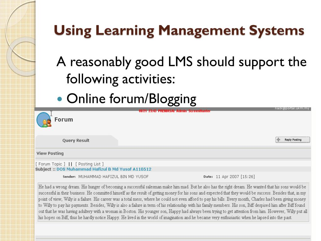 Using Learning Management Systems