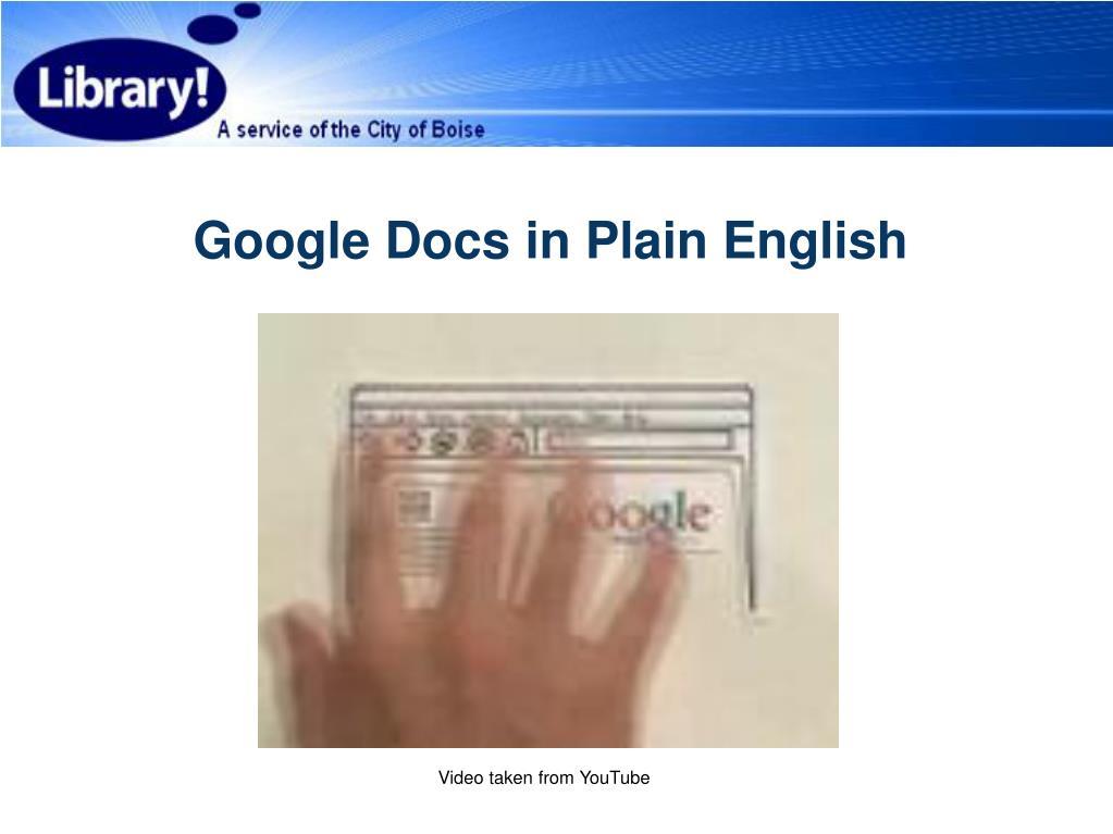 Google Docs in Plain English