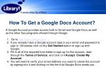 how to get a google docs account