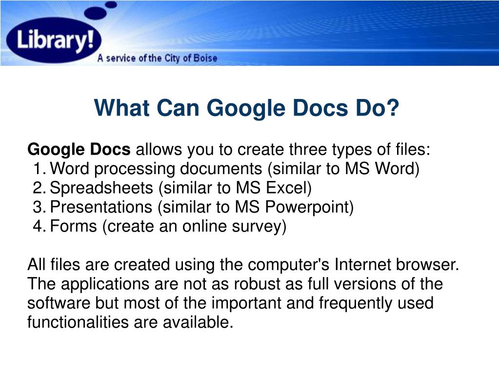 What Can Google Docs Do?