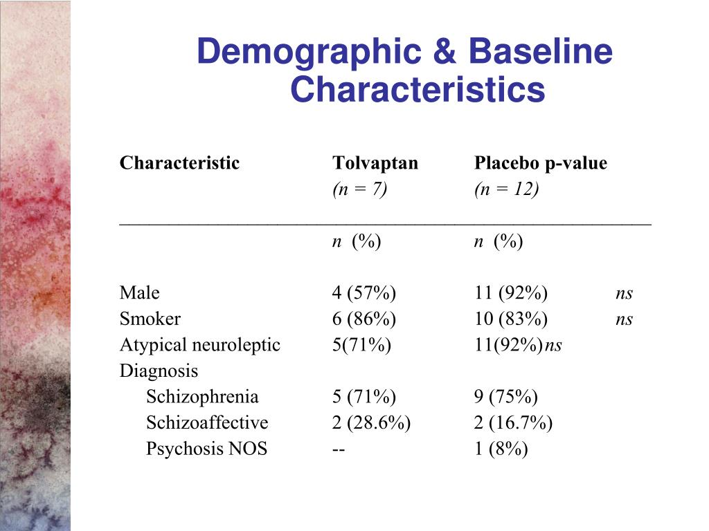 Demographic & Baseline