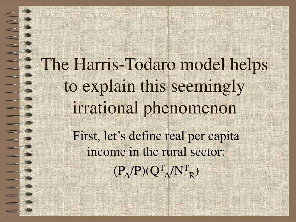 Ppt The Harris Todaro Model Powerpoint Presentation Id