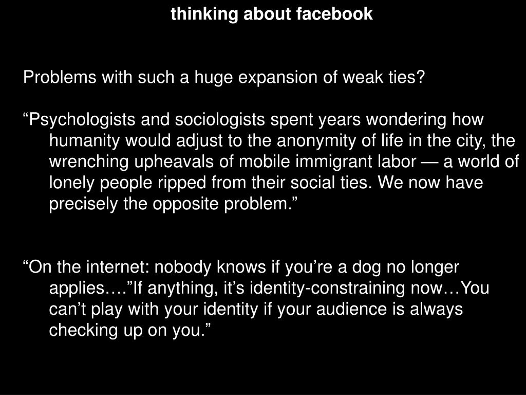 thinking about facebook