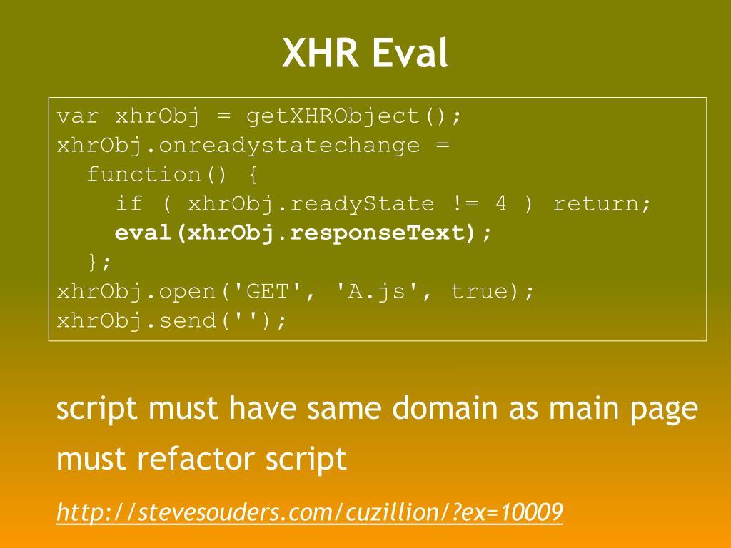 XHR Eval