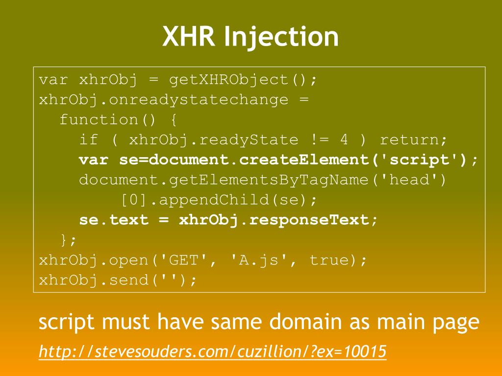 XHR Injection