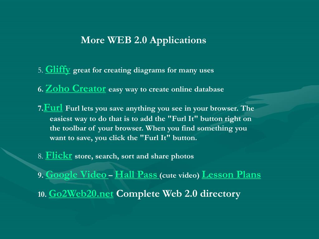 More WEB 2.0 Applications