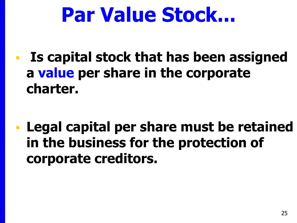 Stock options par value