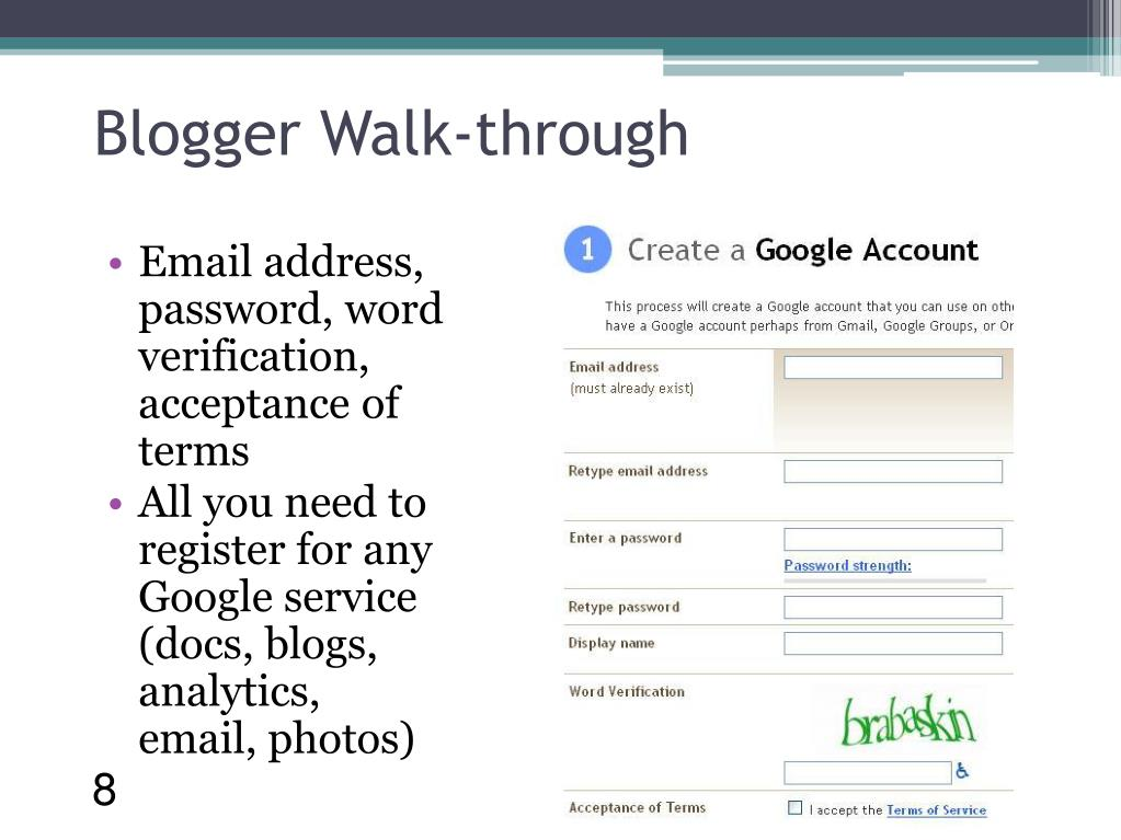 Blogger Walk-through